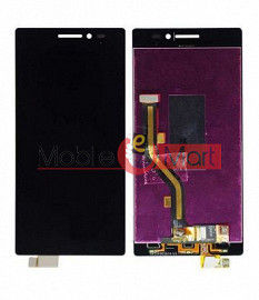 Lcd Display With Touch Screen Digitizer Panel Combo Folder Glass For Lenovo Vibe X2 (Black)