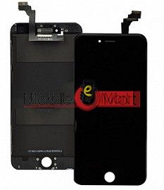 Lcd Display With Touch Screen Digitizer Panel Combo Folder Glass For Iphone 6G (Black)