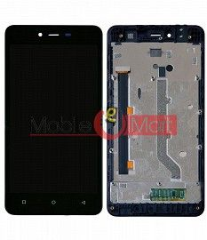 Lcd Display With Touch Screen Digitizer Panel Combo Folder Glass For Gionee Pioneer P5L (Black)