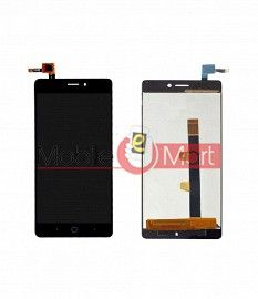 Lcd Display With Touch Screen Digitizer Panel Combo Folder Glass For Lyf Water 7 (Black)