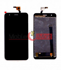 Lcd Display With Touch Screen Digitizer Panel Combo Folder Glass For Lyf Water 11 (Black)