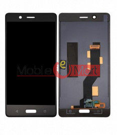 Lcd Display With Touch Screen Digitizer Panel Combo Folder Glass For Nokia 8 (Black)