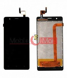 Lcd Display With Touch Screen Digitizer Panel Combo Folder Glass For Intex Aqua Lions 4G (Black)