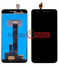 Lcd Display With Touch Screen Digitizer Panel Combo Folder Glass For Intex Aqua Lions T1 (Black)
