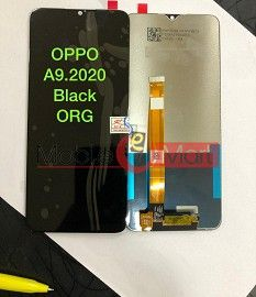 Lcd Display With Touch Screen Digitizer Panel Combo Folder Glass For OPPO A9 (BLACK)