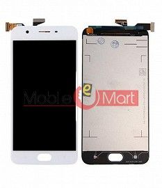 Lcd Display With Touch Screen Digitizer Panel Combo Folder Glass For Oppo A57 (White)