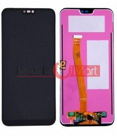 Lcd Display With Touch Screen Digitizer Panel Combo Folder Glass For Huawei P20 Lite (White)