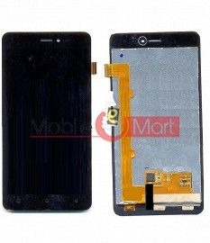 Lcd Display With Touch Screen Digitizer Panel Combo Folder Glass For Gionee Pioneer P5W (White)