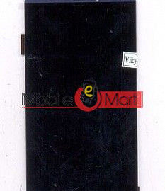 Lcd Display With Touch Screen Digitizer Panel Combo Folder Glass For Micromax Canvas Mega 4G Q417 (White)