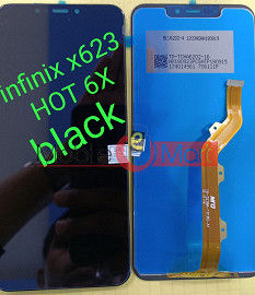 Lcd Display With Touch Screen Digitizer Panel Combo Folder Glass For Infinix Hot 6X (Black)