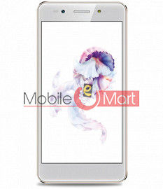 Lcd Display With Touch Screen Digitizer Panel Combo Folder Glass For Lava A3(White)