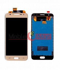 Lcd Display With Touch Screen Digitizer Panel Combo Folder Glass For Samsung Galaxy J5 Prime (Gold)