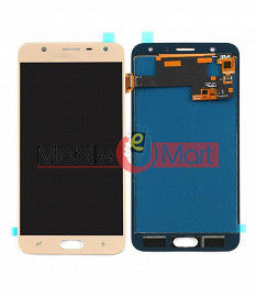 Lcd Display With Touch Screen Digitizer Panel Combo Folder Glass For Samsung Galaxy J7 Duo (Gold)