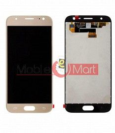 Lcd Display With Touch Screen Digitizer Panel Combo Folder Glass For Samsung Galaxy J3 2017 (Gold)