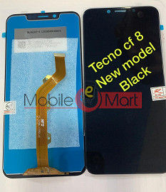 Lcd Display With Touch Screen Digitizer Panel Combo Folder Glass For TECNO Camon 11 Pro (Black)
