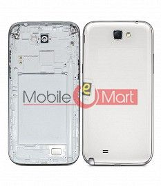 Full Body Housing Panel Faceplate For Samsung Galaxy Note 2 White