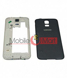 Full Body Housing Panel Faceplate For Samsung Galaxy S5 Black