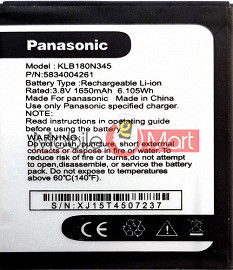 Mobile Battery For Panasonic T45 black