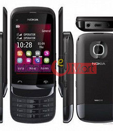 Full Body Housing Panel Faceplate For Nokia C2-02 Black