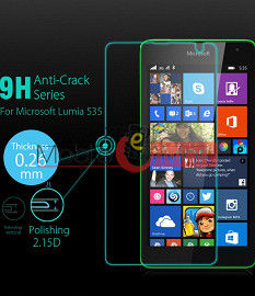 Nokia Lumia 535 Tempered Glass Scratch Gaurd Screen Protector Toughened Protective Film