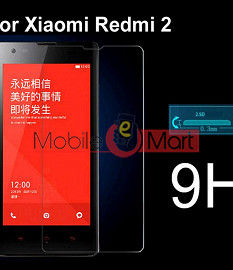Xiaomi RedMi 2 Tempered Glass Scratch Gaurd Screen Protector Toughened Protective Film