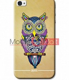 Fancy 3D Designer Owl Mobile Cover For Apple IPhone 4 & IPhone 4s