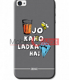 Fancy 3D Ladka Heera Hai Mobile Cover For Apple IPhone 4 & IPhone 4s