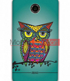 Fancy 3D Colorful Owl Mobile Cover For Google Nexus 6