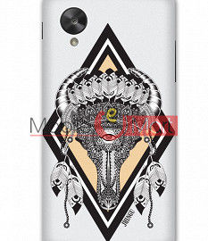 Fancy 3D Buffalo Skull Mobile Cover For Google Nexus 5
