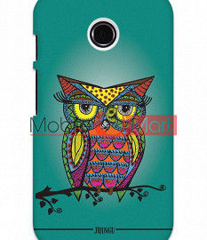 Fancy 3D Colorful Owl Mobile Cover For Motorola Moto E