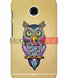 Fancy 3D Designer Owl Mobile Cover For Motorola Moto E