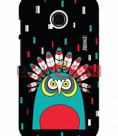 Fancy 3D African Owl Mobile Cover For Motorola Moto E
