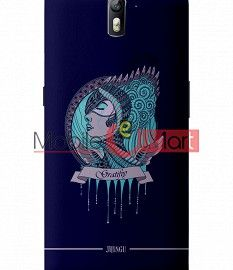 Fancy 3D Warrior Princess Mobile Cover For One Plus One