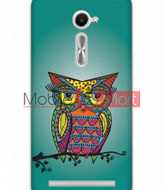 Fancy 3D Colorful Owl Mobile Cover For Asus Zenphone 2