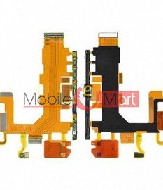 Power On Off Volume Button Key Flex Cable For Sony Xperia Z2