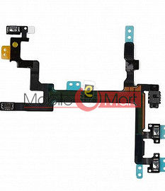Power On Off Volume Button Key Flex Cable For iPhone 5c