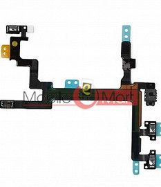 Power On Off Volume Button Key Flex Cable For iPhone 5G