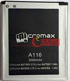 Mobile Battery For  Micromax A116 canvas HD