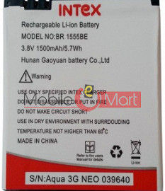 Mobile Battery For Intex Aqua 3G Neo