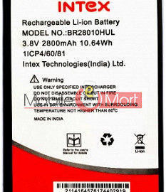 Mobile Battery For Intex Lion X1
