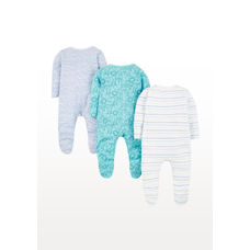 Jungle Animals Sleepsuits – 3 Pack