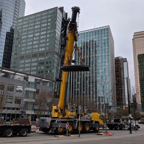 Crane Job - Downtown Vancouver