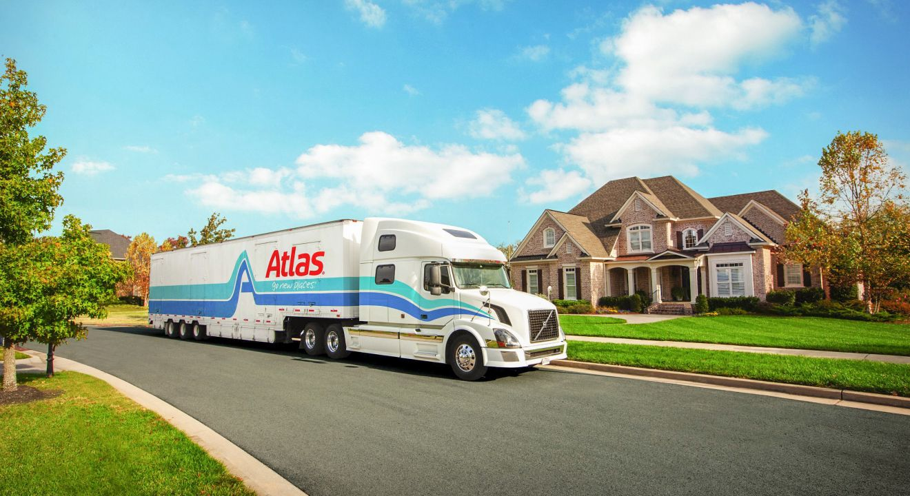 Atlas Vanline's semi on the road moving family accross Canada