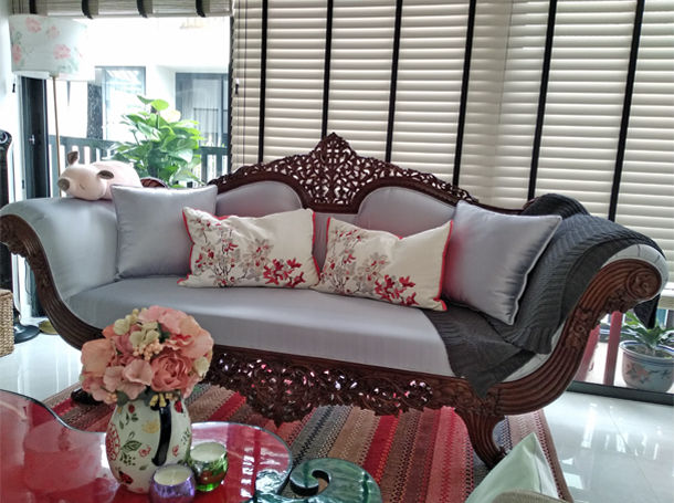 Love At First Sight - A Beautifully Styled Antique Sofa - The Past Perfect Collection - Singapore