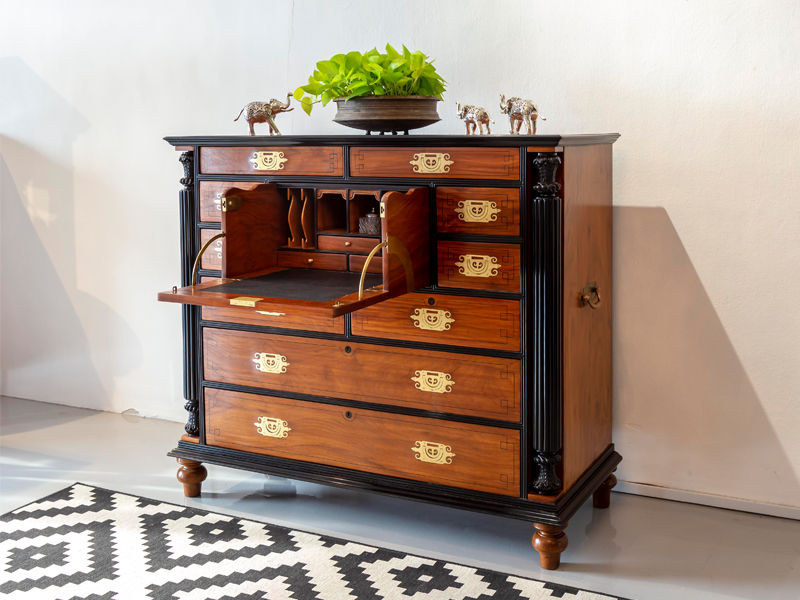 British-colonial-Camphor-Ebony-Campaign-Chest-of-Drawers-The-Past-Perfect-Collection-Singapore