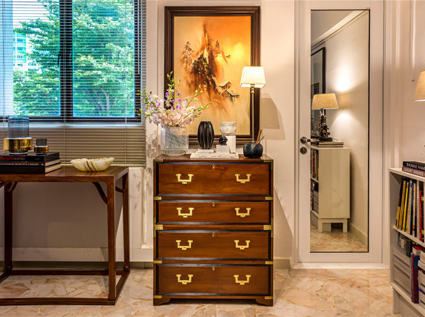 Antiques for Apartment Living - Customers' Homes - The Past Perfect Collection - Singapore.
