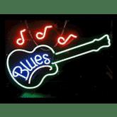 The Blues Guitarist Logo
