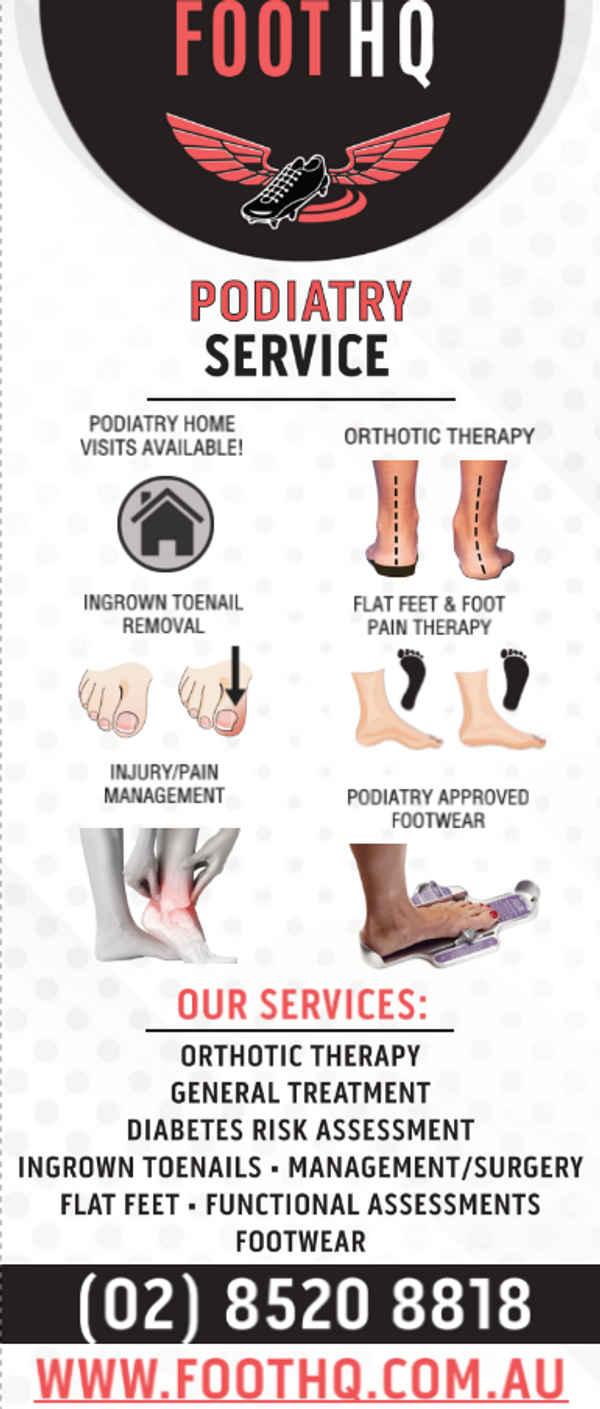 Foot HQ Podiatry - Podiatrists In Miranda 2228