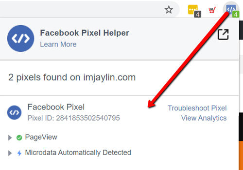 檢查FB廣告追蹤像素