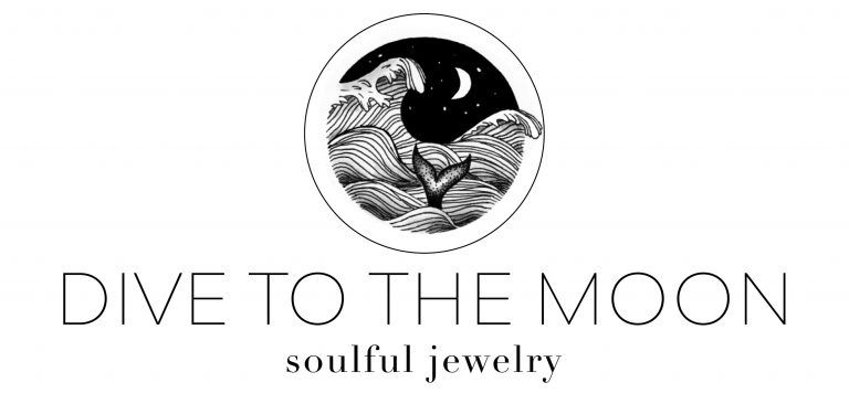 Logo groß zugeschnitten dive to the moon, soulful jewelry